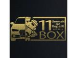 Логотип 11box, автомастерская по ремонту немецких автомобилей