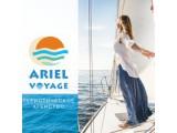 Логотип Ariel Voyage, агентство туристических услуг